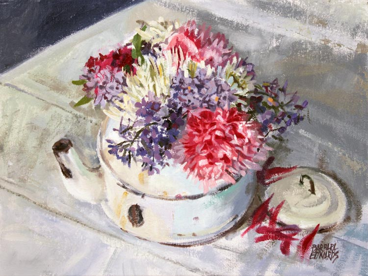 SOLD- Suzanne's Flow... by  Barbara Summers Edwards - Masterpiece Online
