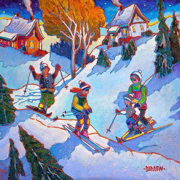 Family Ski by Mr John Burrow - Masterpiece Online