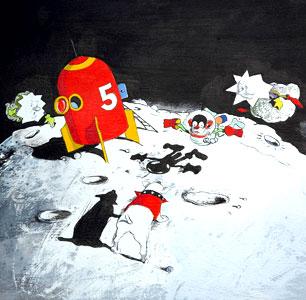 Monkey Meets Moondog by  John A. Rowe - Masterpiece Online