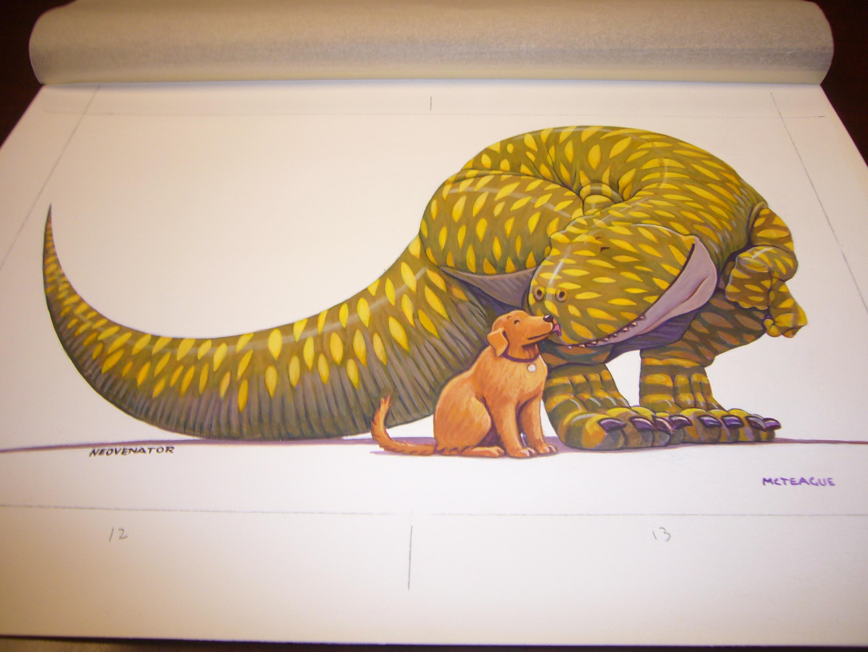 Dino Kissing Dog