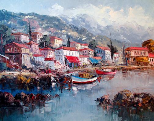 Village Near Milos by  Fani  Parlapani  - Masterpiece Online