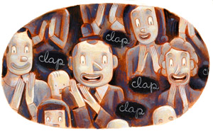 In The Audience by  Luc Melanson - Masterpiece Online