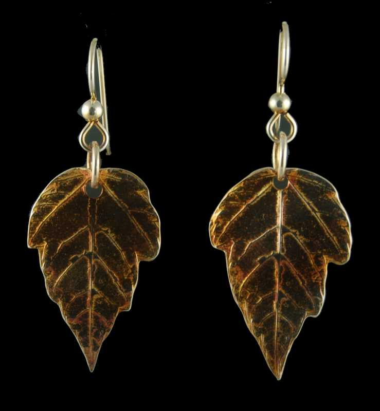 PRE320 Earrings - Lea... by  Pam East - Masterpiece Online