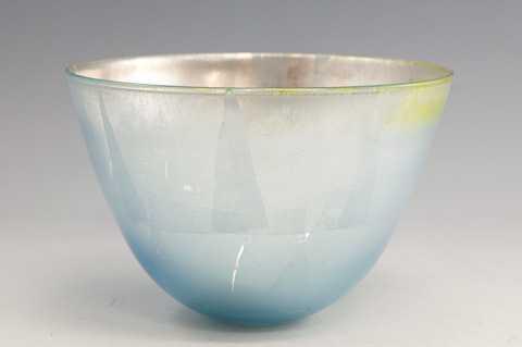 Light Blue Silver Bowl by  Fred Kaemmer - Masterpiece Online