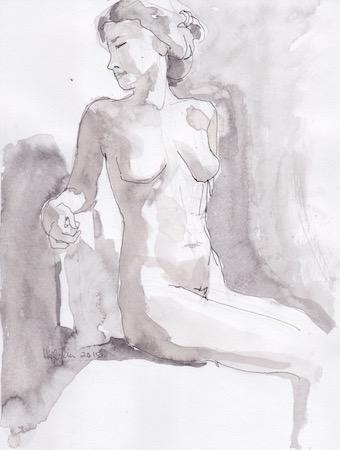 Figure Sketch: 10 by  Melissa Hefferlin - Masterpiece Online