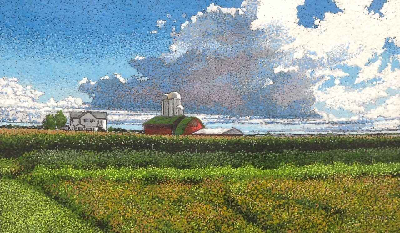 Fields and Clouds, Tr... by Ms. Ann Meyer - Masterpiece Online