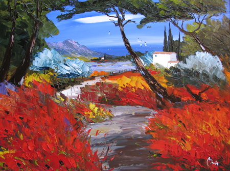 Autumn Color by  Louis  Magre - Masterpiece Online