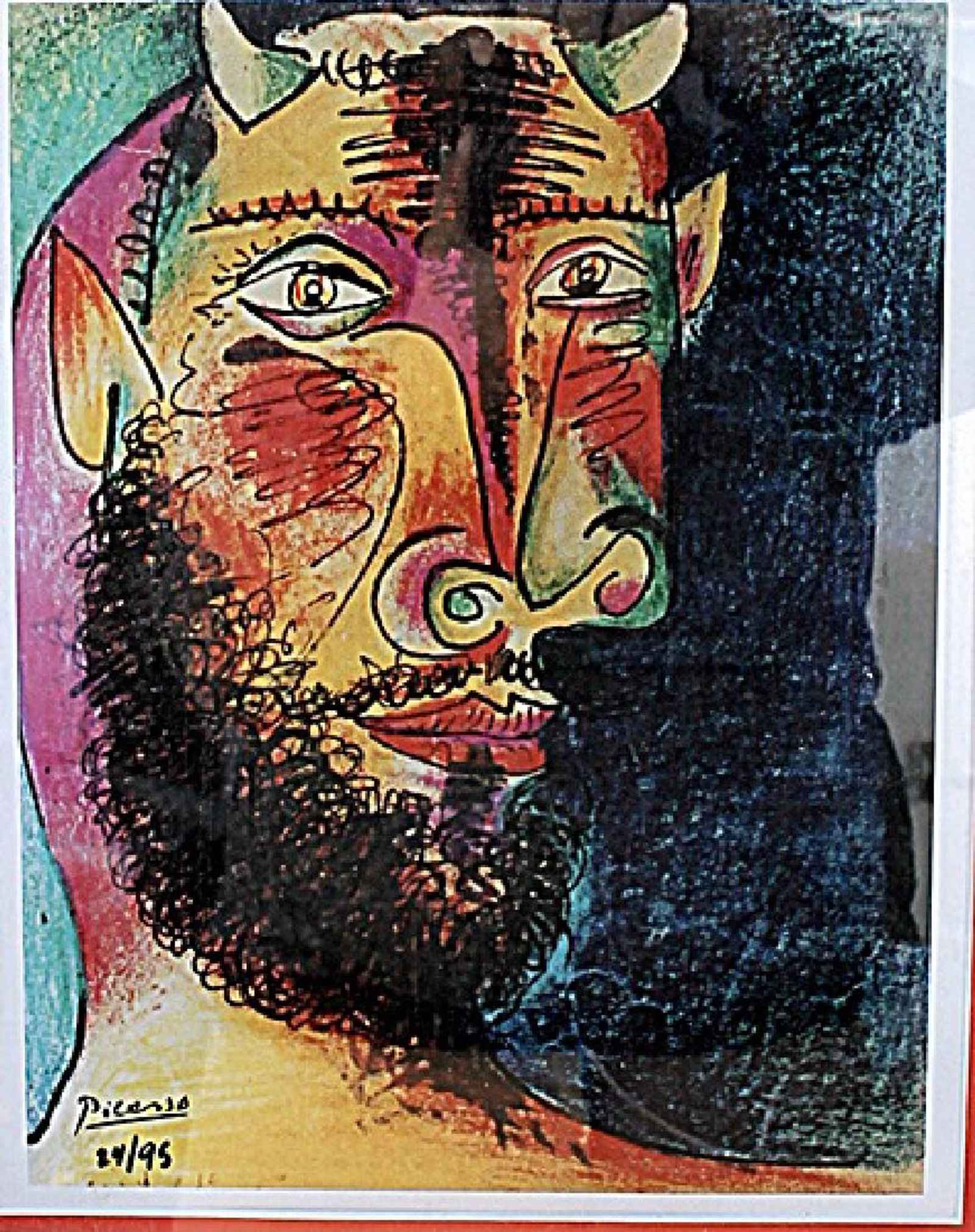 Head of a Faun/Minota... by  Pablo Picasso - Masterpiece Online