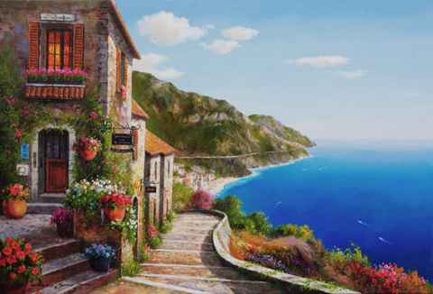 Steps Along the Sea by  Soon Ju Choi  - Masterpiece Online