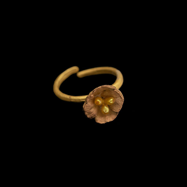 California Poppy - Adjustable Ring