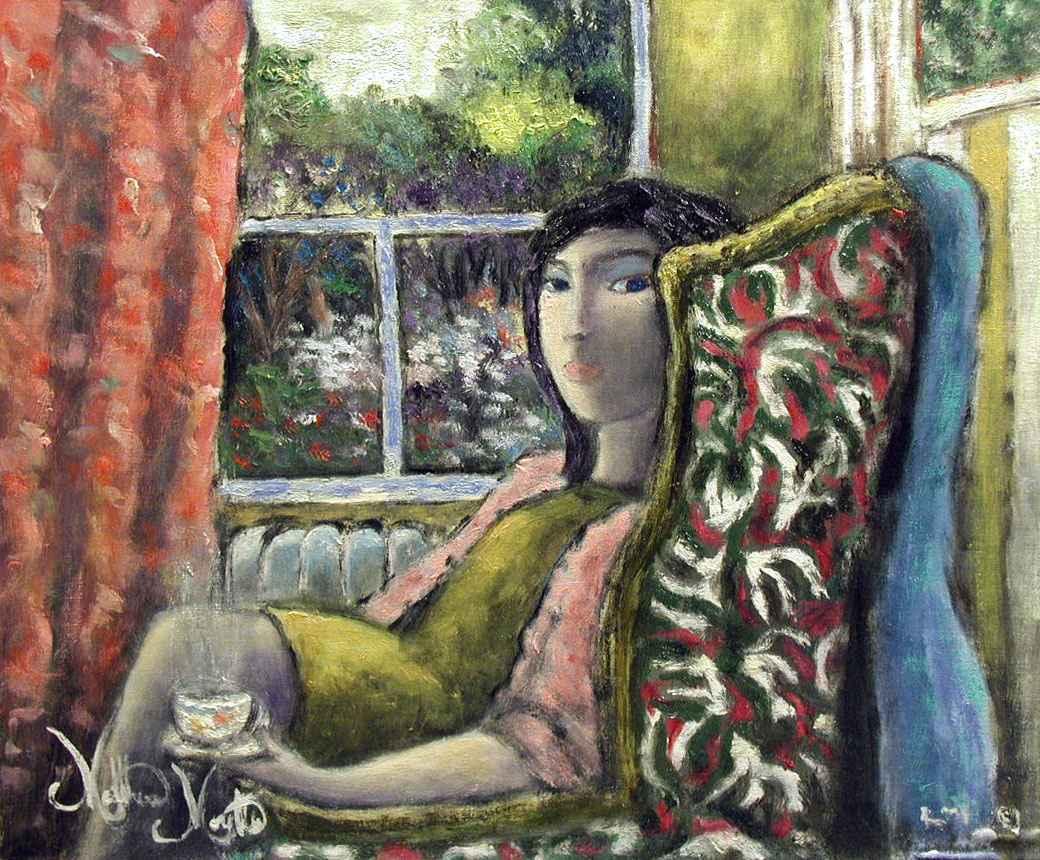 Drinking Her Tea by  Matthew Morillo - Masterpiece Online