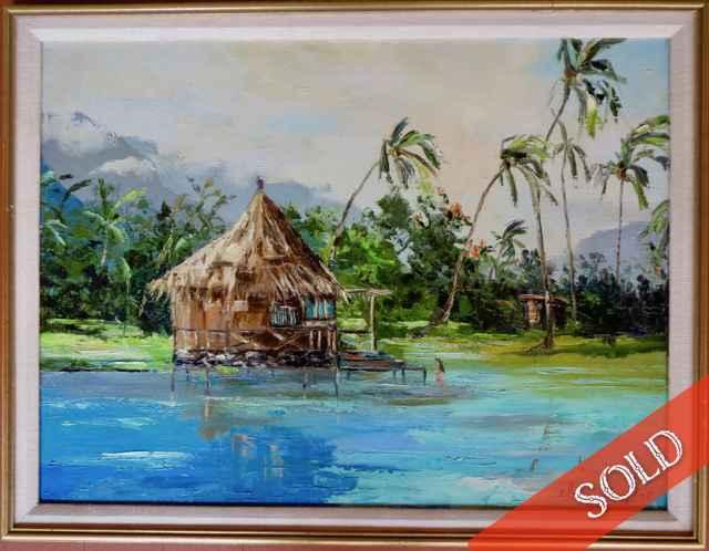 Pao Pao Bay, Moorea, ... by  Elma Taylor (1900-1992) - Masterpiece Online