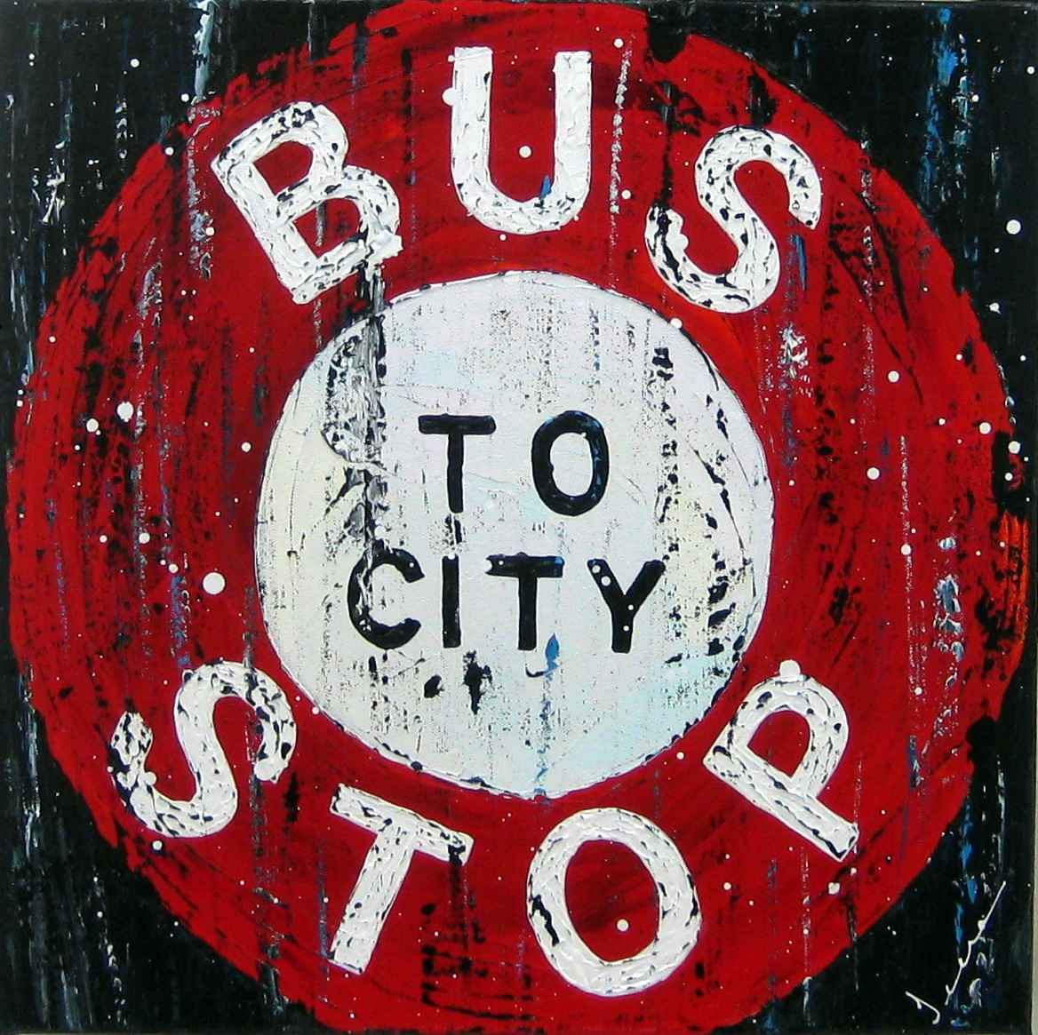 Bus Stop To City by  Jeena Chatrani - Masterpiece Online