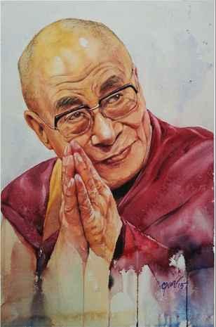 The Dalai Lama by  Chandan Pramanik - Masterpiece Online
