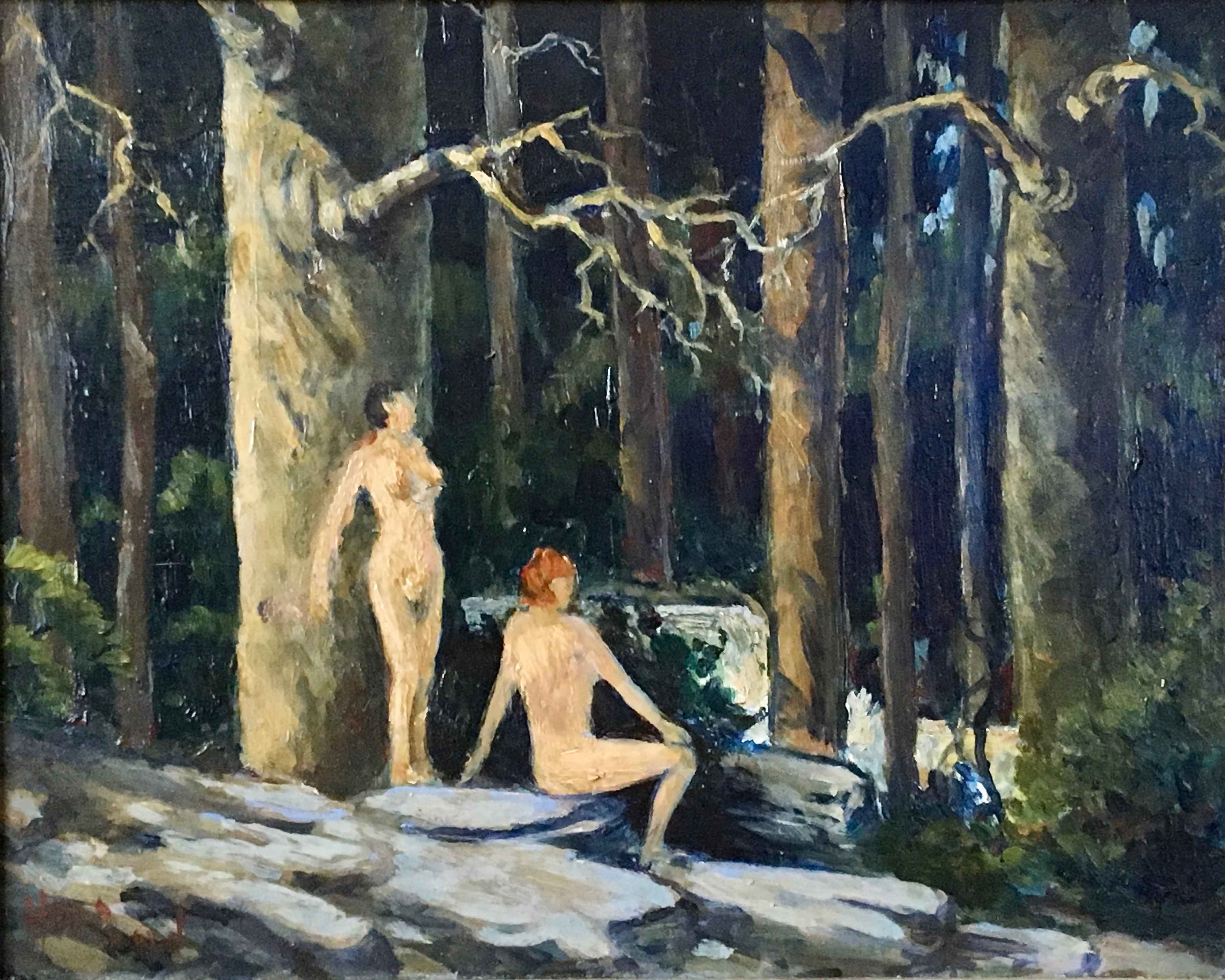 Untitled (Two Nudes a... by  Harold Woodford Pond - Masterpiece Online