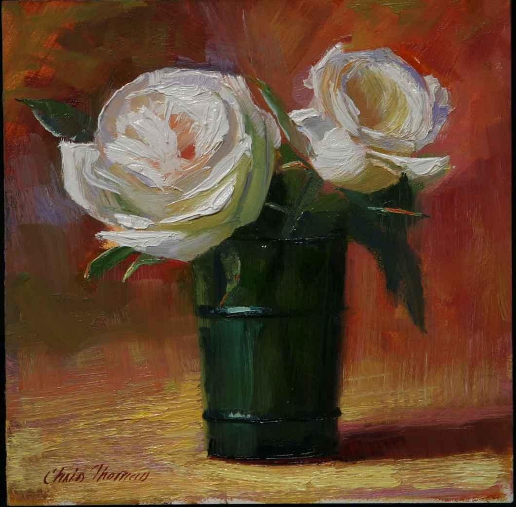 White Roses in Green ...