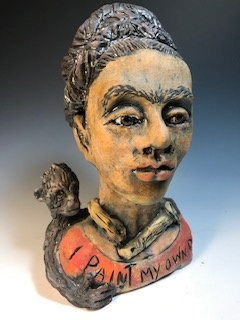 """I Paint my own Reality"" Portrait of Frida Kahlo"
