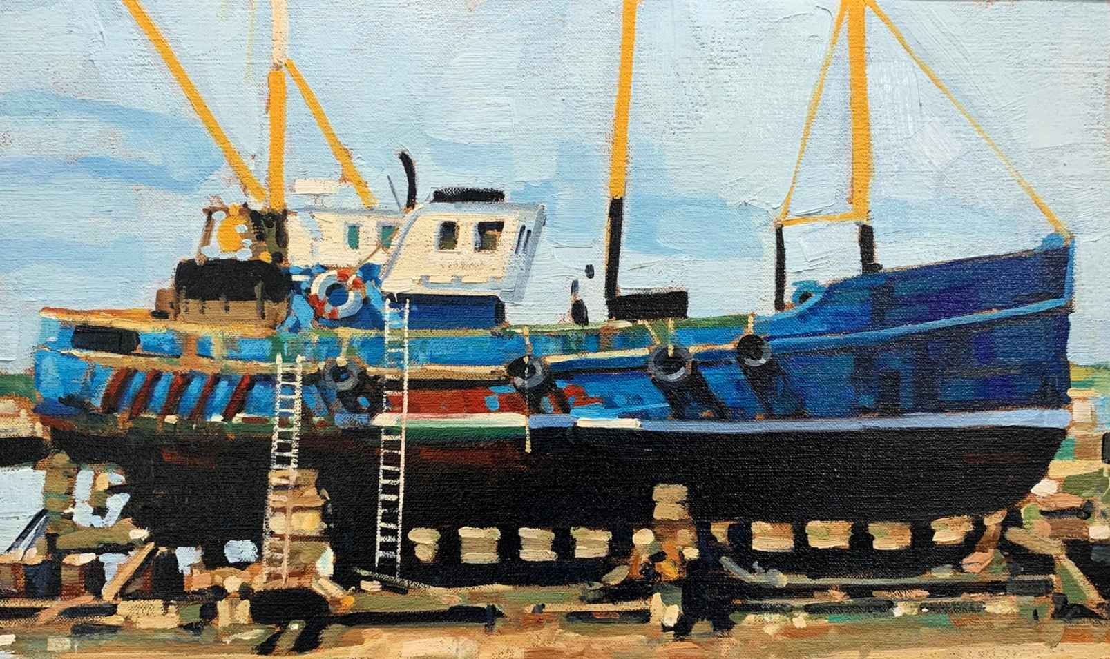 Turquoise Dry Dock by Mr. Santiago Michalek - Masterpiece Online