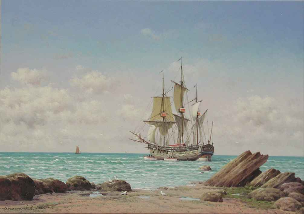 Going Ashore by  Vasily Gribennikov - Masterpiece Online