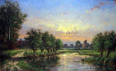 Sundown in Holland by  Nanne  Balyon  - Masterpiece Online