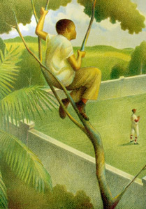 Clemente-Boy In Tree  by  Raul Colon
