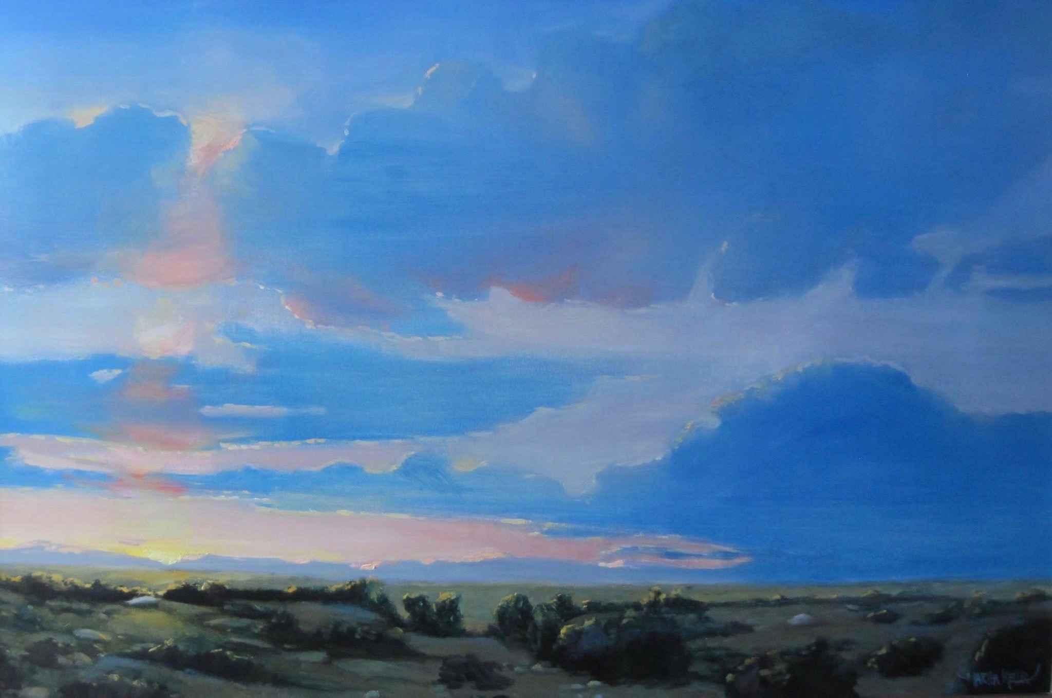 Blue Sunset by  Martha Kellar - Masterpiece Online