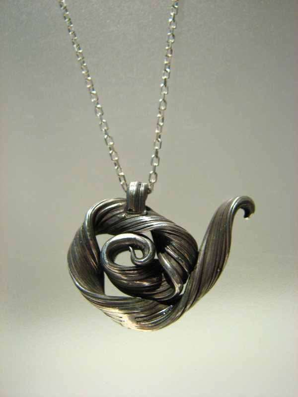 Rose Tea Pot Pendant by  Heather Scott - Masterpiece Online