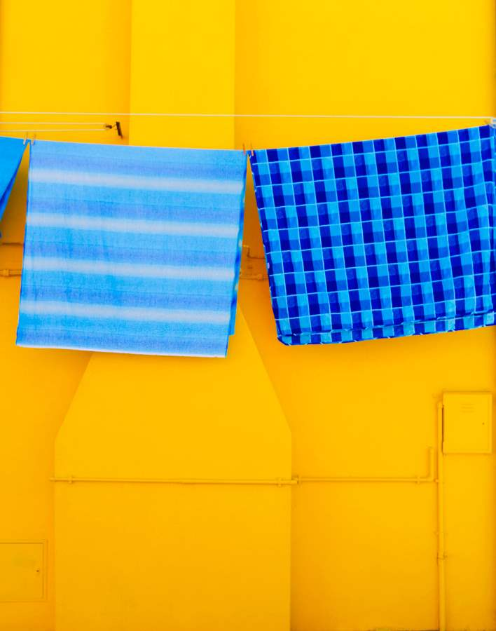 Yellow House & Blue L... by  Alison Shaw - Masterpiece Online