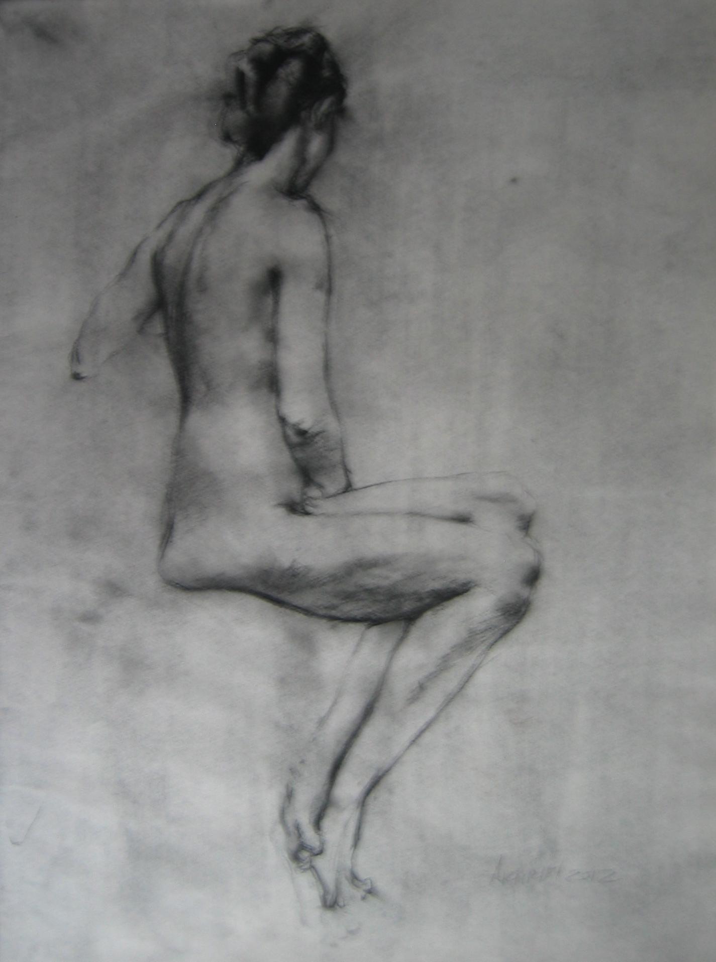 Seated Nude by  Daud Akhriev - Masterpiece Online