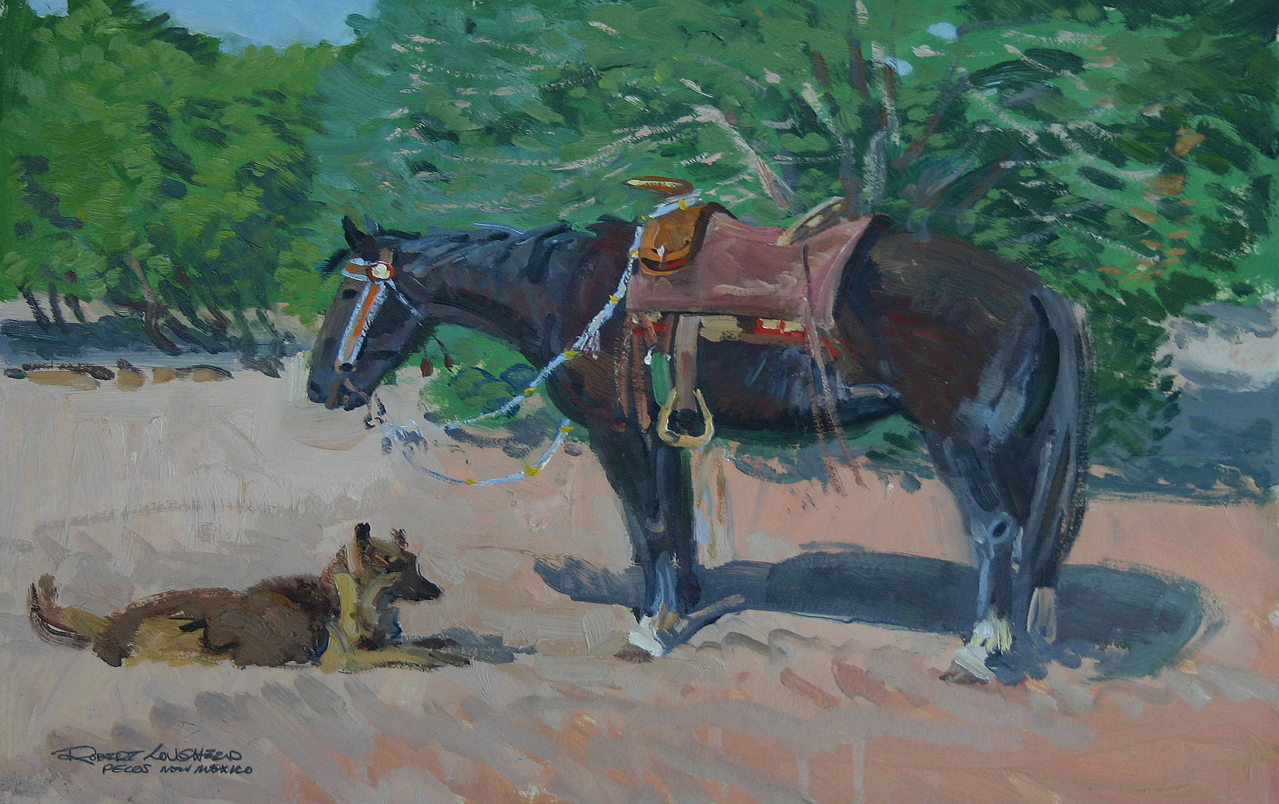 Horse & Dog by  Robert Lougheed - Masterpiece Online