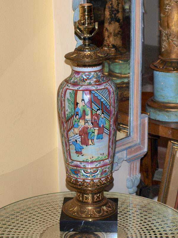 Rose Medallion Lamp by  Chinese  - Masterpiece Online