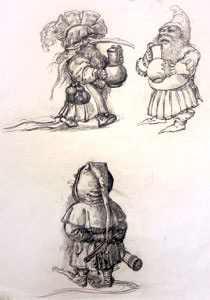 Three Gnomes represented  by  Andren And Olga Dugin