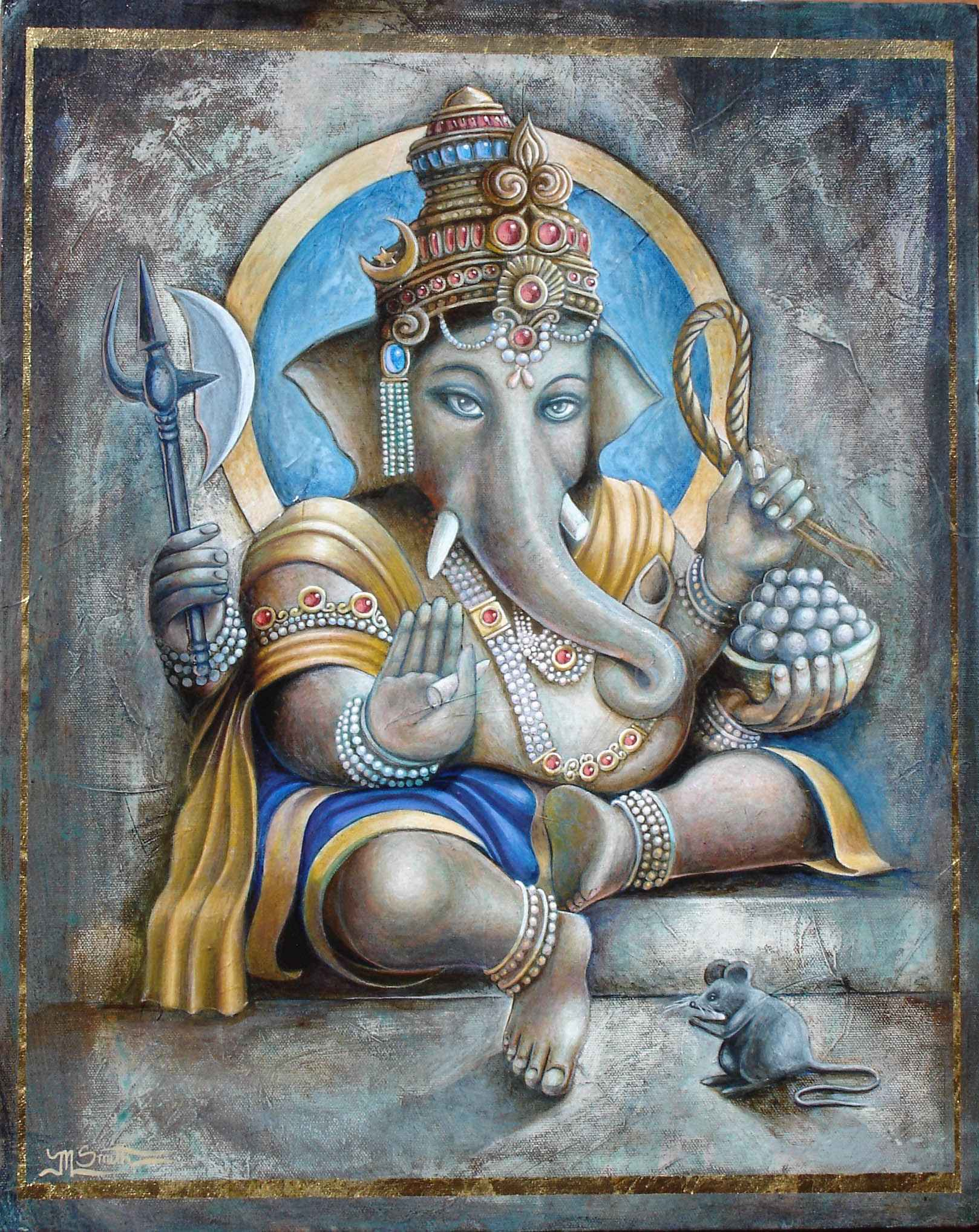 Ganesha & Mouse by  Matthew Smith - Masterpiece Online