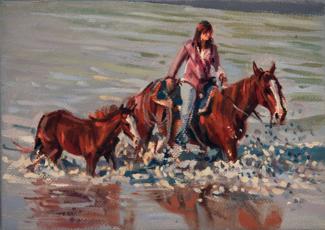 SOLD- Powder Blue  by  Barbara Summers Edwards - Masterpiece Online