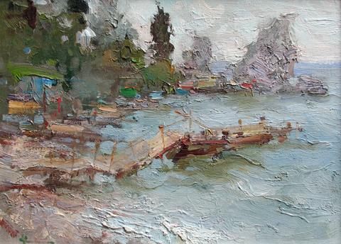 Old Pier  by  Slava Korolenkov