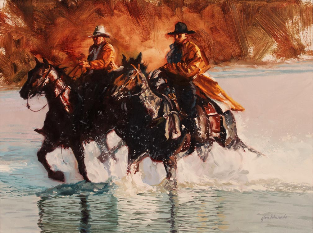 SOLD- Tough Riders  by  Glen Edwards - Masterpiece Online