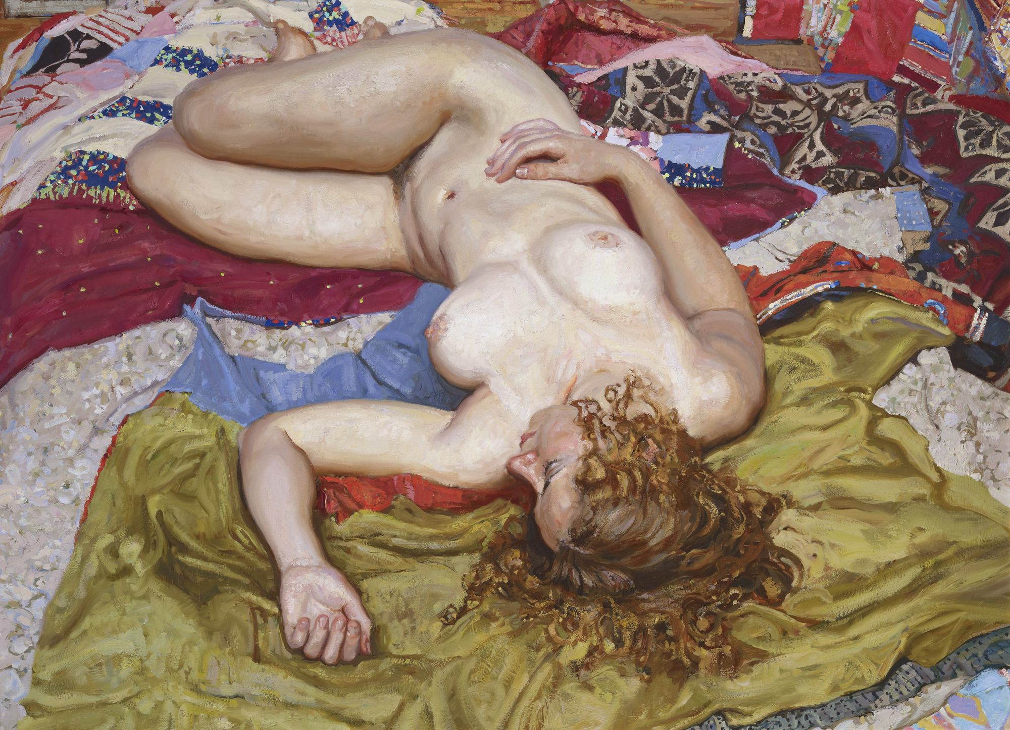Resting With Quilts by  Daud Akhriev - Masterpiece Online