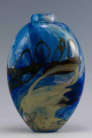 Shard Vase/Blue w/Iri... by  Susan Rankin - Masterpiece Online