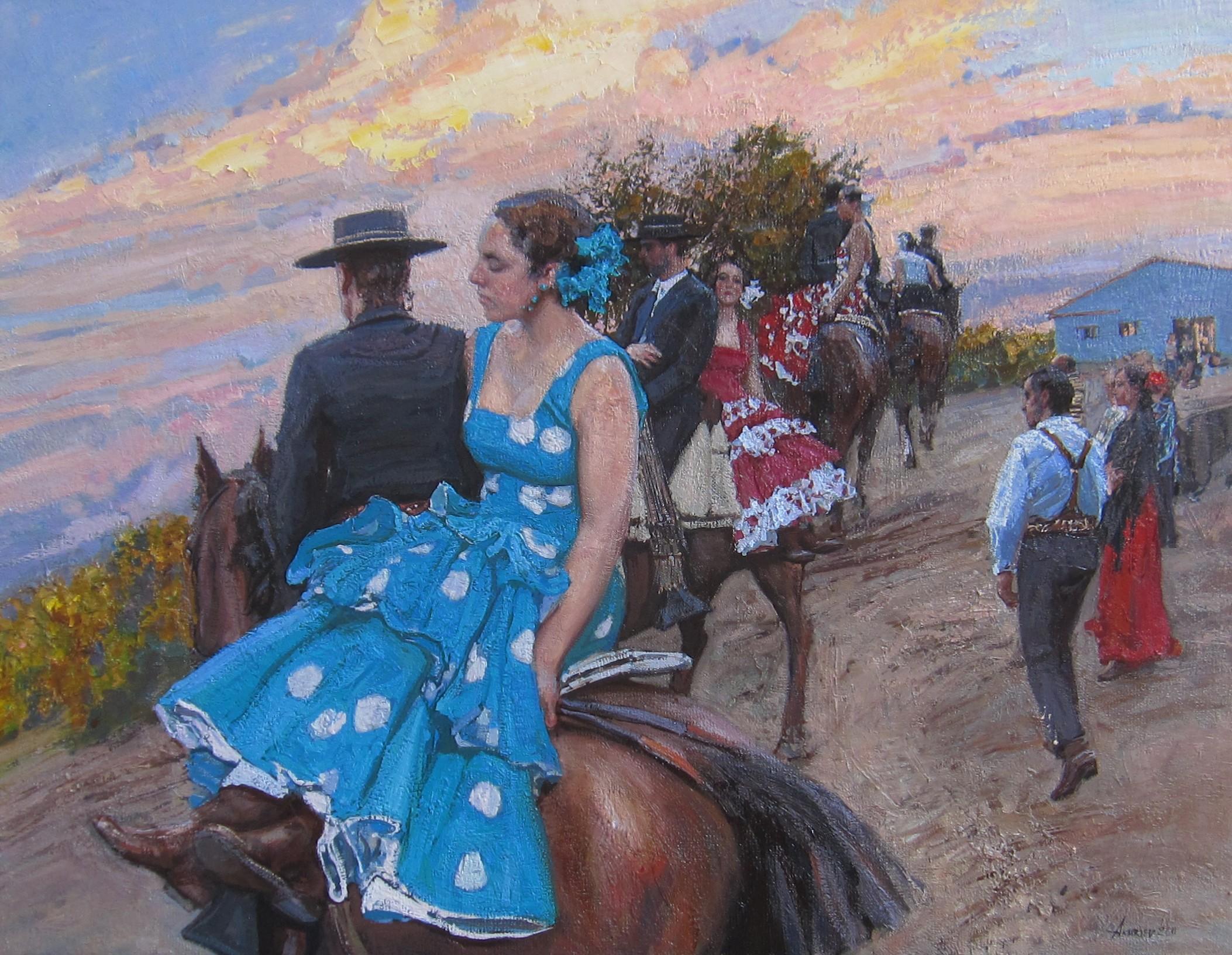 At the Via Verde by  Daud Akhriev - Masterpiece Online