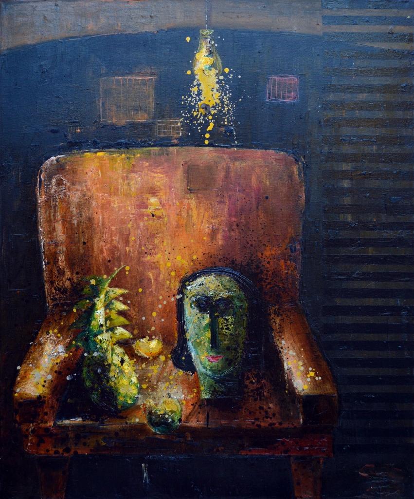 CABEZA Y PINA EN UN S... by Mr. VLADIMIR CORA - Masterpiece Online