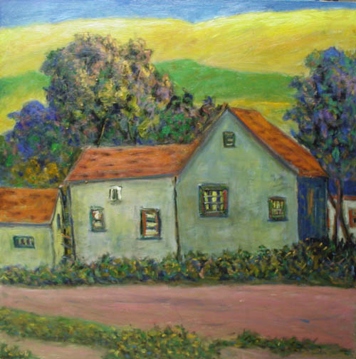 Old Houses in the Sun... by  Andres  Morillo - Masterpiece Online