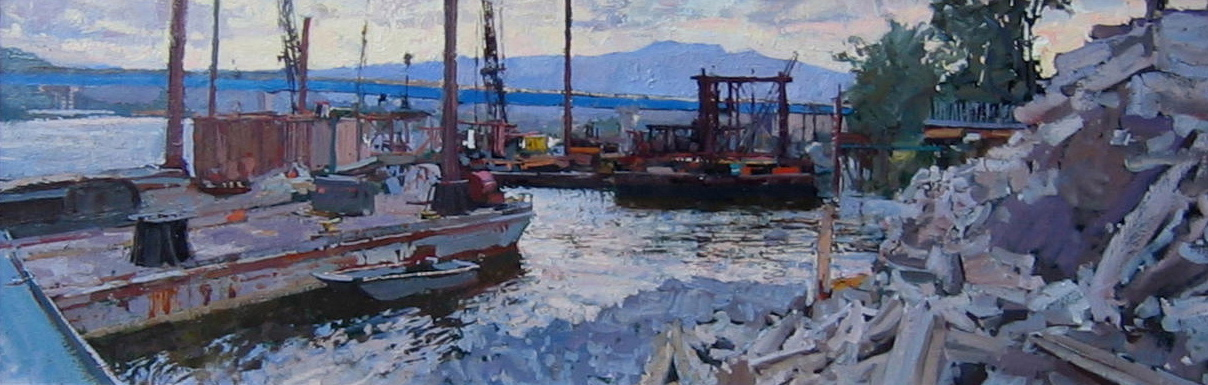 Bridges and Barges by  Daud Akhriev - Masterpiece Online