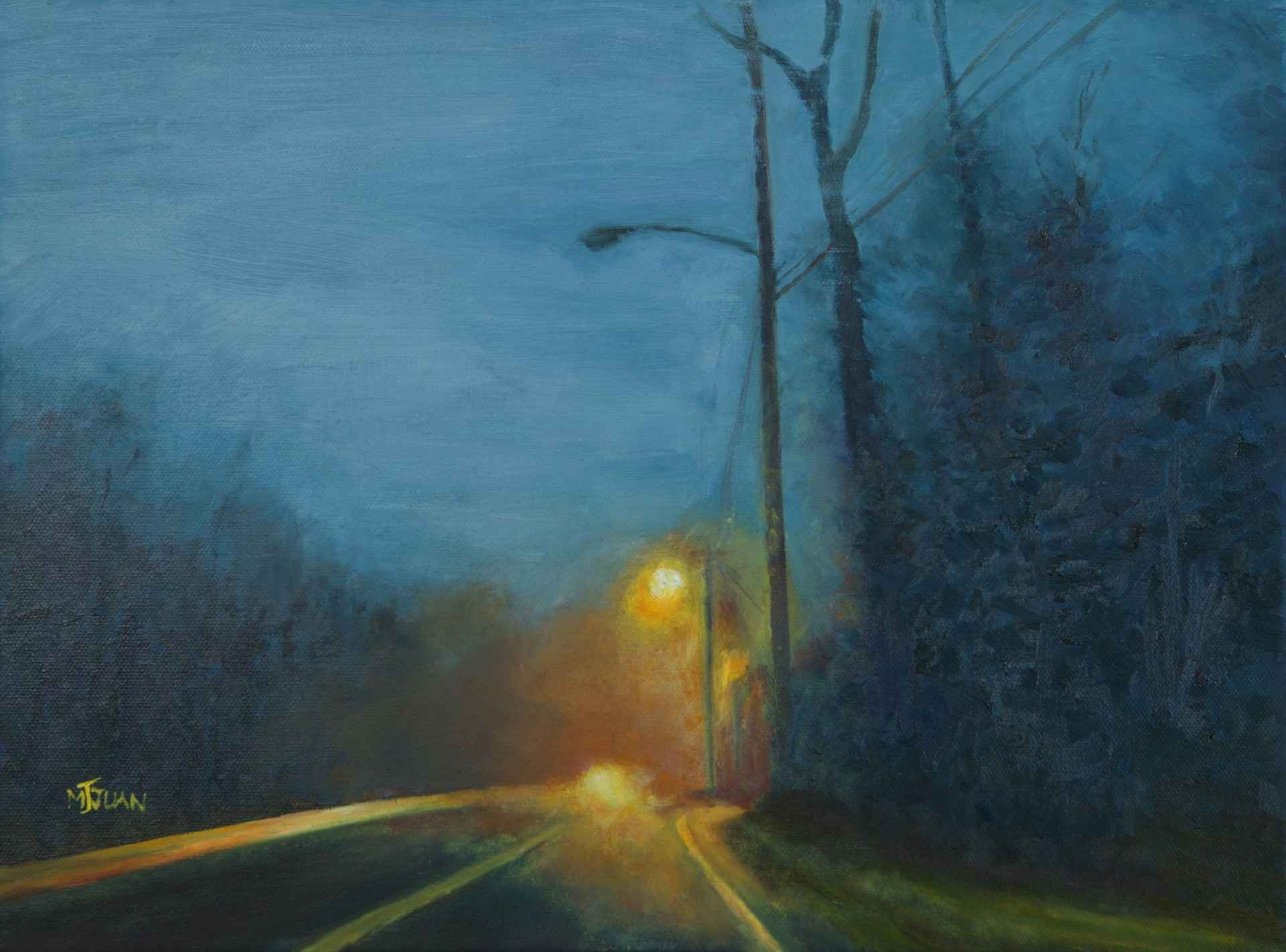 Lights at the Bend of... by  Judy Juan - Masterpiece Online