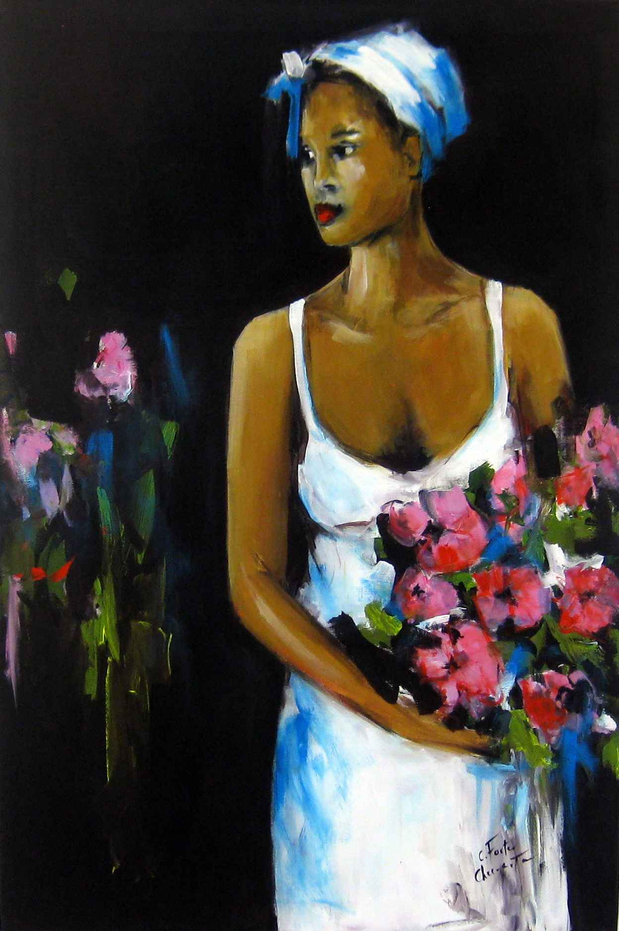 Evening Rose by Mrs. Catherine Forter-Chee-A-Tow - Masterpiece Online