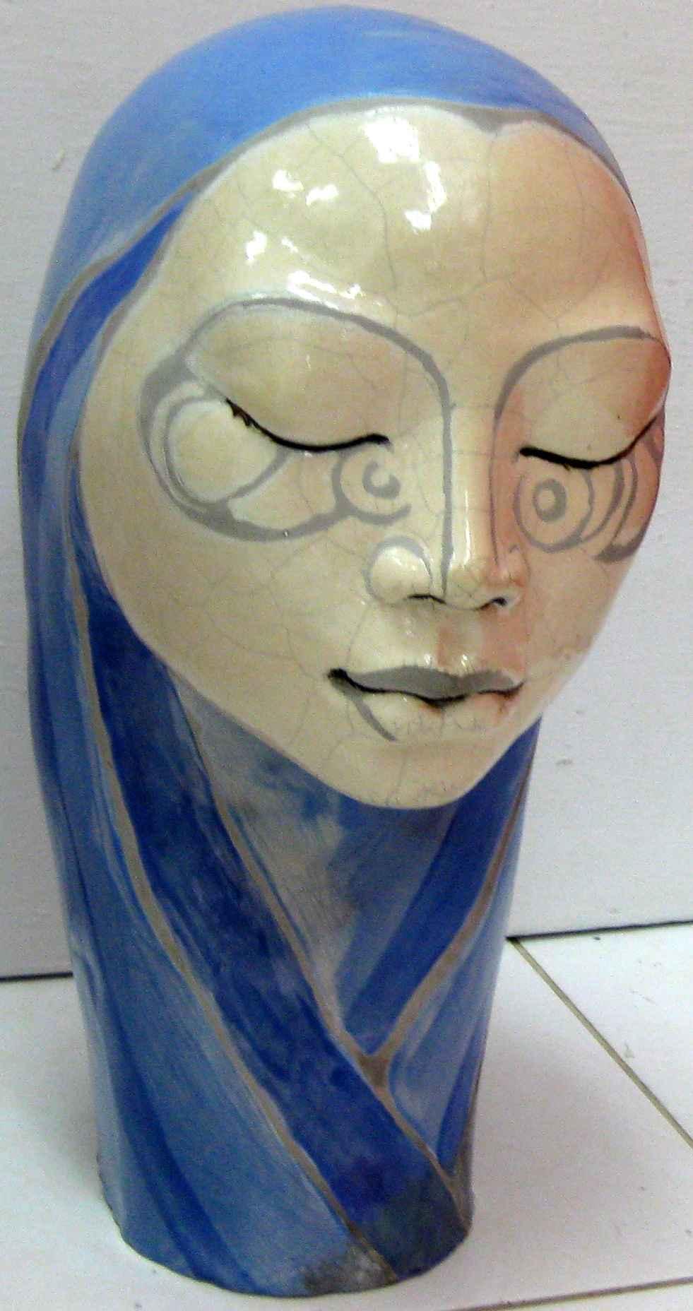 Shrouded Woman Raku T... by Ms Nakazzi Hutchinson - Masterpiece Online
