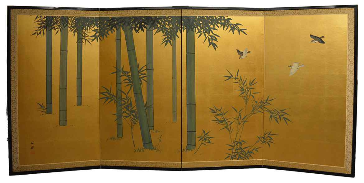 Bamboo & Sparrows 1 by  Oh-en Tanaka - Masterpiece Online