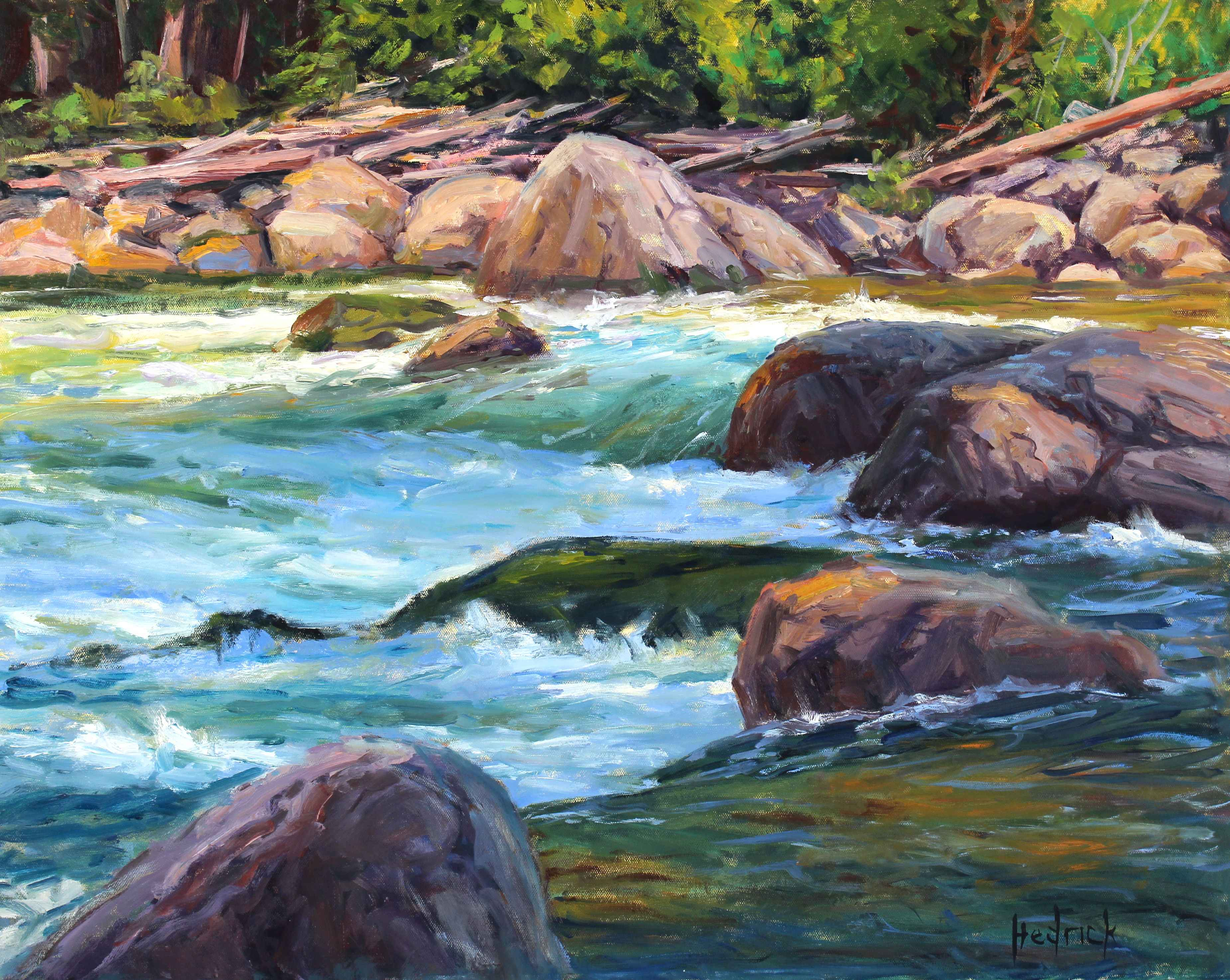 Spring Runoff  by  Ron Hedrick