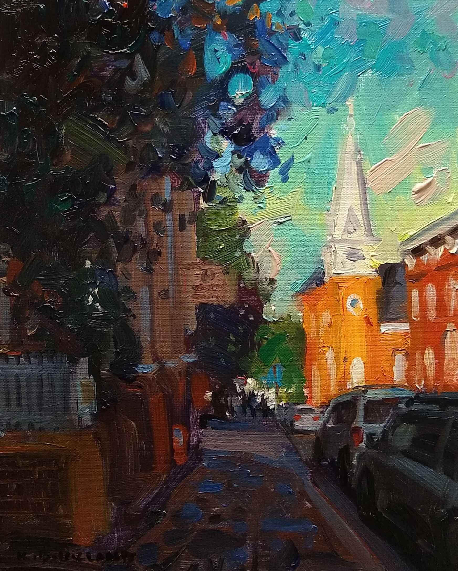 Strolling Down Main S... by  Kyle Buckland - Masterpiece Online
