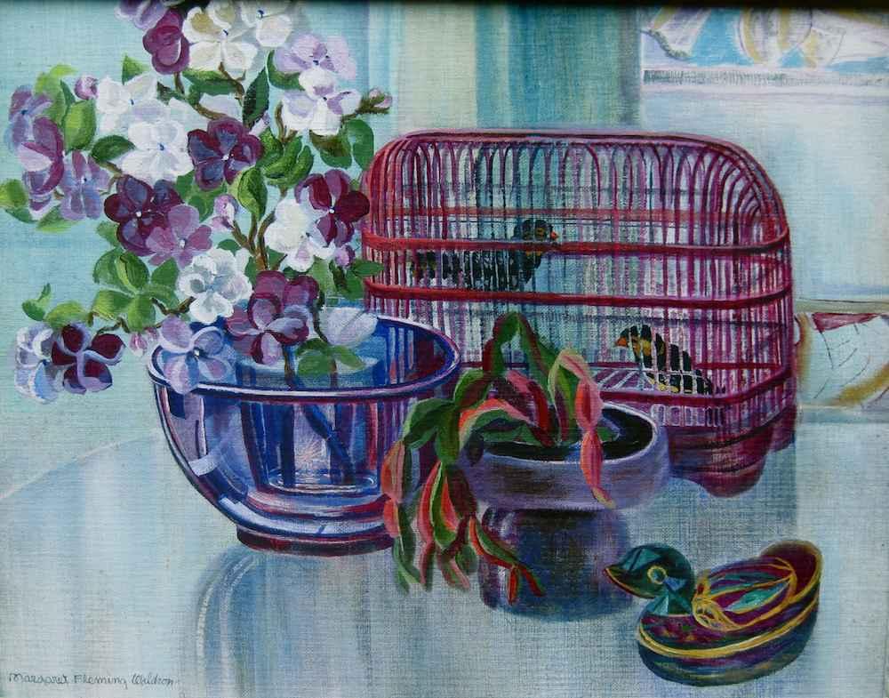 Chinese Bird Cage by  Margaret Fleming Waldron (1910-1992) - Masterpiece Online