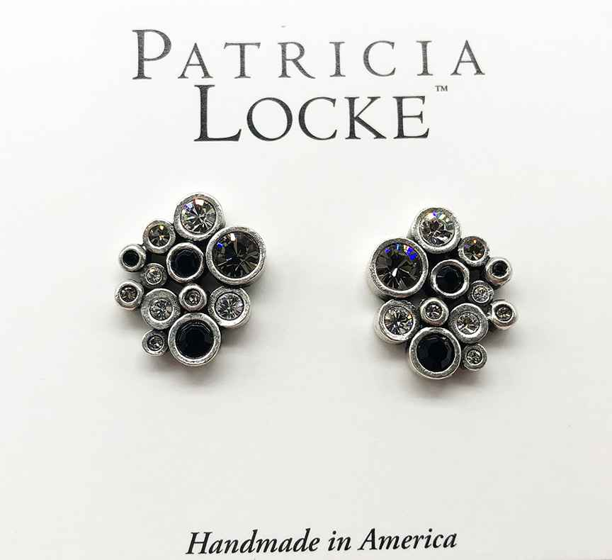 Radiance Clip Earrings in Silver, Black & White